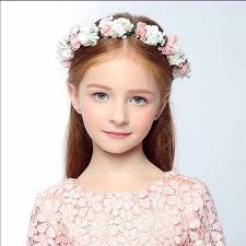 flower girl hair accessories boho floral wrist flower girl garland headwear crown of flowers