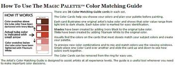magic palette color matching guide by the color wheel company