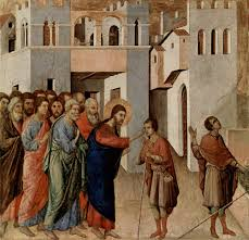 Was Bartimaeus Born Blind Di Buoninsegna The Healing Of A Blind Man
