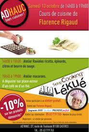 ad hauc cuisine flo et mimolette ateliers pasta et macarons samedi 13 octobre à