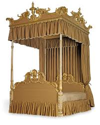four post bed a george iii carved giltwood and cream painted four post bed