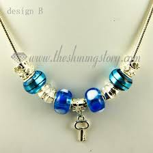 bead charm necklace images Silver charms necklaces with european murano glass charm beads jpg