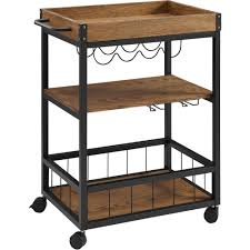 Linon Kitchen Island by Linon 464908mtl01u Austin Mobile Industrial Style Kitchen Cart In