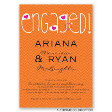 happily engaged engagement party invitation invitations by dawn