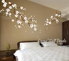 Cherry Blossom Tree Wall Decal For Nursery Cherry Blossom Wall Decals Nursery White Flower Vinyl Wall Decal