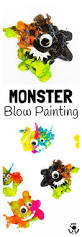 blow painting monster craft kids craft room