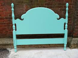 Wooden Headboards For Double Beds by Free Nyc Delivery Aqua Painted Full Double Bed Complete With