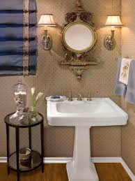 using a pedestal sink creates the illusion of extra square footage