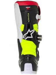 childrens motocross boots alpinestars black red fluorescent tech 7s kids mx boot