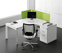 modern office interior design with single entity desk collection