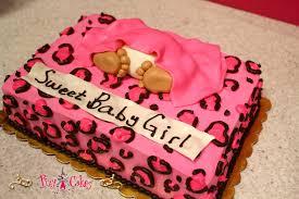cheetah baby shower baby shower cake baby pink girl cheetah print 1 tier pixy cakes
