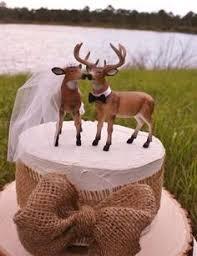 buck and doe wedding cake topper wedding cake topper real tree camo camoflauge deer