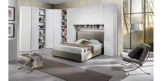 da letto moderna completa armadio angolare larice bianco