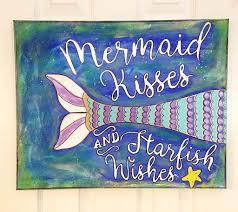 this beautiful mermaid mixed media canvas art will make you giddy