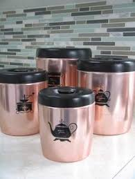 copper canister set kitchen vintage canister set ransburg rooster copper canisters set of 4