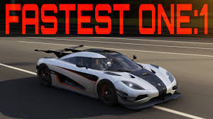 koenigsegg one forza 6 topspeed build 432km h 270mph 1360hp koenigsegg one 1
