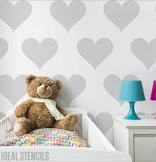 heart stencil heart nursery décor nursery wall art nursery