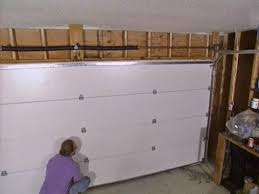 Plans For A Garage by Installing A Garage Door How Tos Diy Bedroom House Plans