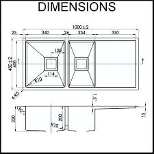 Kitchen Sink Width Kitchen Sink Dimensions Mydts520