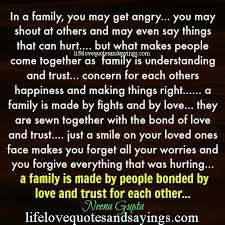 in a family you may get angry you may shout at others and may