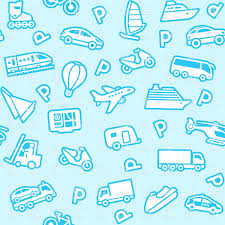 blue wrapping paper seamless blue wrapping paper with transport icons royalty free
