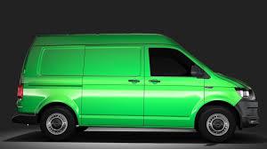 volkswagen van 2017 3d model volkswagen transporter van l1h2 t6 2017