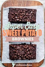 super easy sweet potato brownie recipe blender