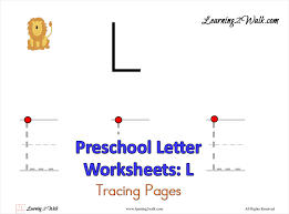 preschool letter l worksheets