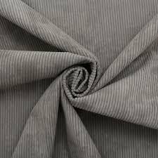 Grey Velvet Upholstery Fabric Luxury Corduroy Needlecord Stripe Cord Velvet Curtain Cushion