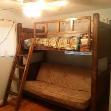 custom twin over futon bunk bed by treasure valley woodcrafts