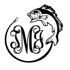 initials monogram 13 5cm 13 5cm monogram initials fishcar stickers and car styling