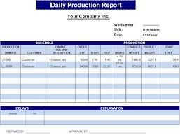 daily work report template effective daily operations and production report template sle