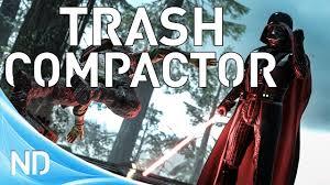 star wars battlefront trash compactor easter egg youtube