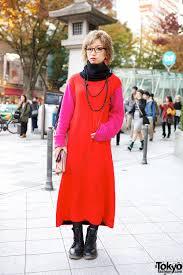kinji colorblock dress u0026 lace up boots in harajuku