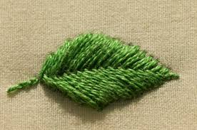 Fish Bone Stitch Embroidery Tutorials Learn 2 Variations Of Fishbone Stitch Flat And Raised