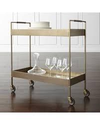 crate and barrel bar cabinet slash prices on crate barrel libations antique brass bar cart bar