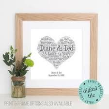 5 year wedding anniversary gifts for him personalised 9th anniversary gift word printable 9