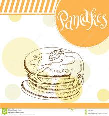 Beautiful Decoration Element Pancakes Vector Illustration Bakery Design Beautiful Card With