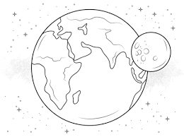 earth moon coloring free printable coloring pages