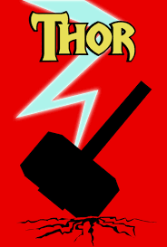 thor hammer poster by fly technique on deviantart