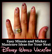 easy minnie and mickey manicure ideas for your next disney vacation