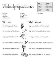 wechselpräpositionen pdf worksheet for german changing