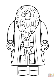lego rubeus hagrid minifigure coloring page free printable