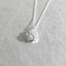 swarovski necklace white gold images White gold swarovski triangle knot infinity necklace sterling jpg