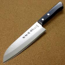steel kitchen knives kanetsune kitchen santoku knife 165mm 6 5 carbon steel 3 layers japan