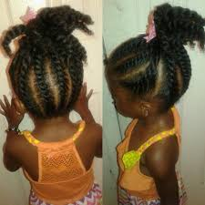 flat twist pony tail for kids natural hair youtube
