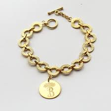 sterling silver monogram bracelet 25 personalized monogram bracelet kate middleton