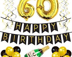 60th birthday decorations 60th birthday etsy
