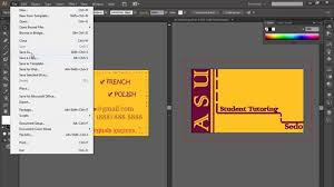 design a business card with illustrator youtube