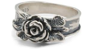 silver rose rings images Lyst tj maxx made in israel sterling silver rose ring in metallic jpeg